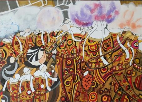 25b-carnaval-cortege-techniques-mixtes-sur-toile