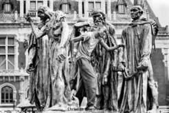26 – Calais. L'oeuvre de Rodin, « les bourgeois de Calais », l'imagination au pouvoir.