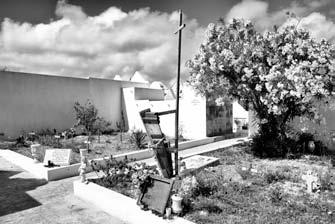 38 – Lampedusa. Dans le cimetière de Lampedusa une place est réservée aux réfugiés morts en mer. De petites croix en bois de navires marquent les emplacements. Triste épilogue à cette quête d'une vie meilleure.