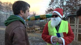 Père Noël rond point